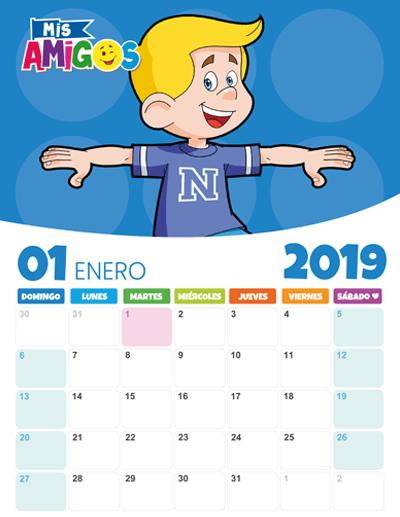 Calendario Enero 2019 Revista Mis Amigos