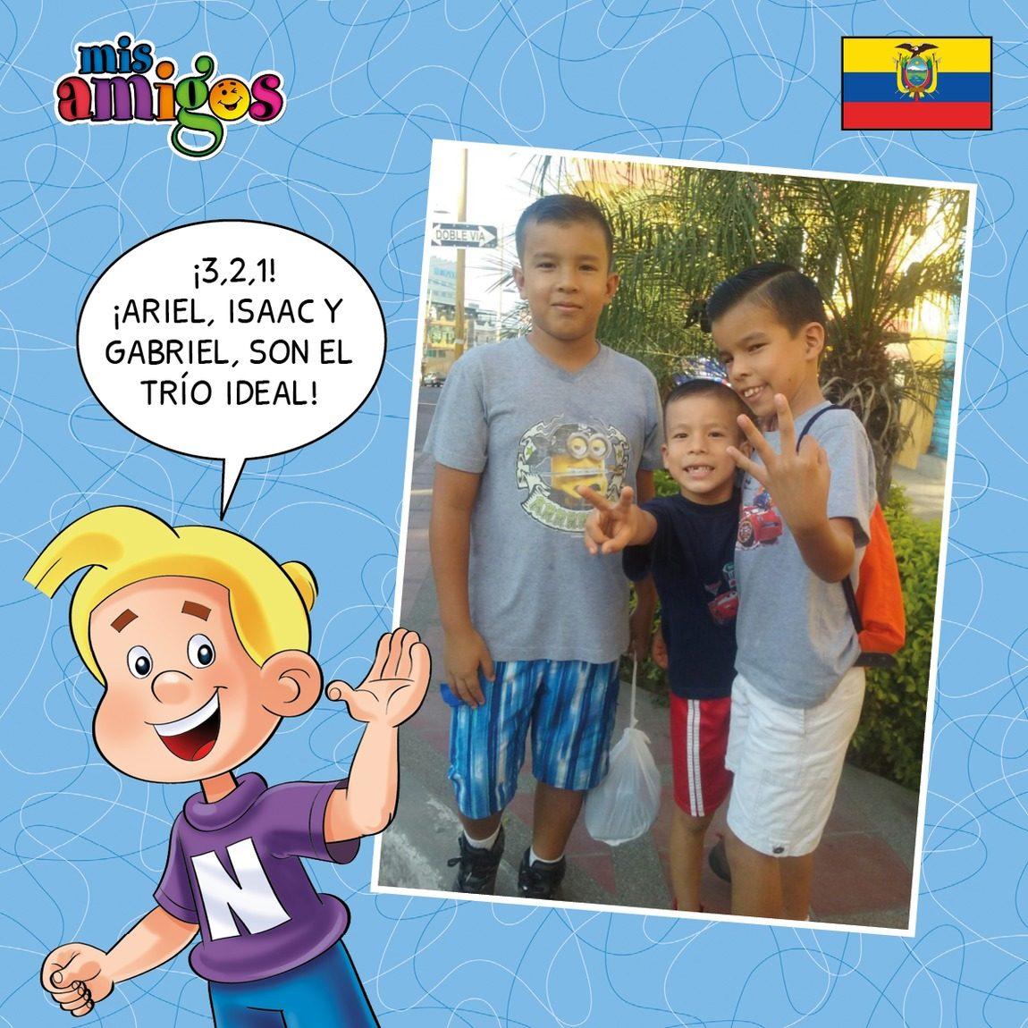 Gabriel, Ariel e Isaac Durán