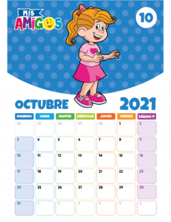 Calendario Octubre 2021
